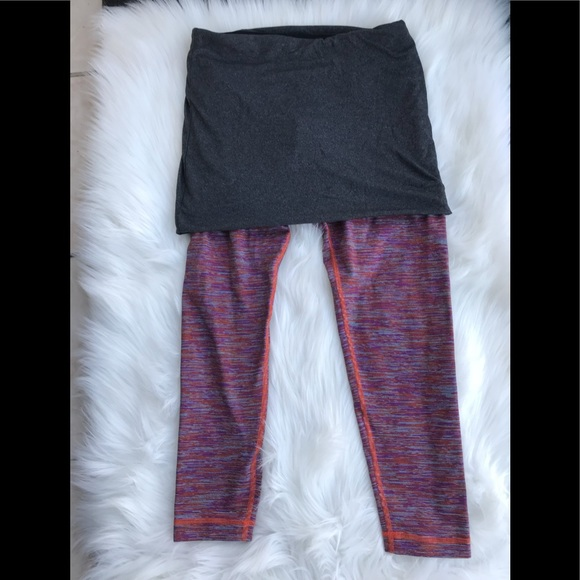 374a138e12 lululemon athletica Pants | Lululemon Yin To You Crop With Skirt 6 ...
